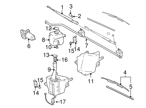 BODY/WIPER & WASHER COMPONENTS for 1998 Toyota Tacoma #1