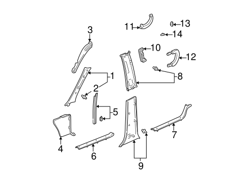 Center Pillar - Toyota (62410-0C010-B0)