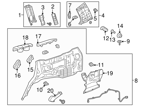 Quarter Trim Panel Clip - Toyota (63399-26070-A1)