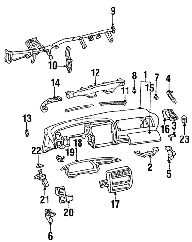 Instrument Panel Pin - Toyota (55346-AC010)