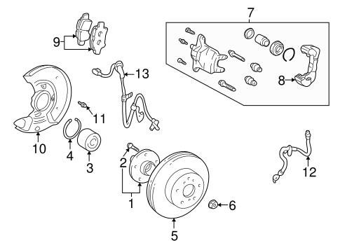 BRAKES/BRAKE COMPONENTS for 2009 Scion tC #1