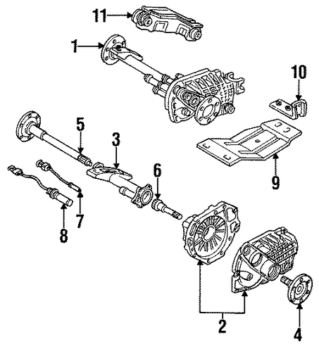 Carrier  U0026 Components Parts For 1993 Chevrolet Suburban C1500