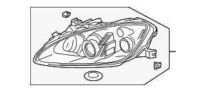 OEM Honda 33101-S2A-A21 - Composite Headlamp
