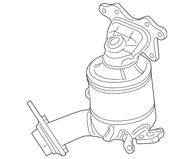 OEM Honda 18190-RW0-L00 - Catalytic Converter