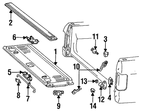 tailgate for 1996 ford f