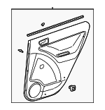 Door Trim Panel - Toyota (67640-02861-B0)