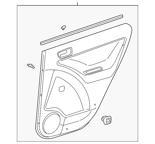 Door Trim Panel - Toyota (67640-02C20-B1)