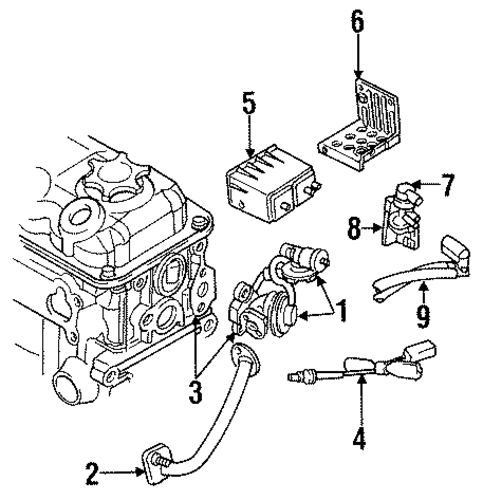 EMISSION SYSTEM/EMISSION COMPONENTS for 1997 Dodge Stratus #1