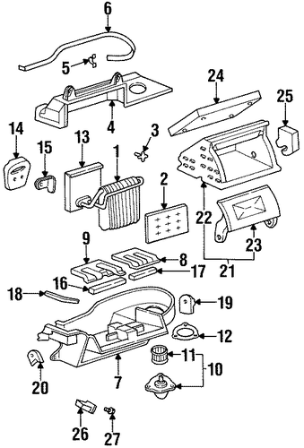 evaporator components for 1998 oldsmobile aurora