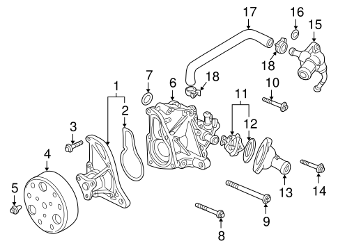 OEM Honda 95701-08060-08 - Thermostat Hsng Bolt
