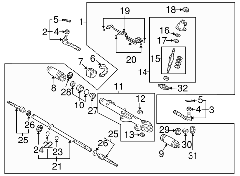 STEERING/STEERING GEAR & LINKAGE for 2004 Toyota Tundra #2