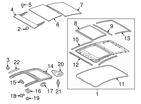 Sunroof Glass - Toyota (63201-47021)