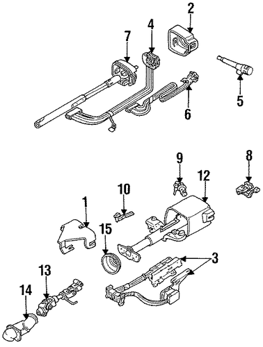 SHROUD, SWITCHES & LEVERS Parts for 1994 Chevrolet Lumina #1