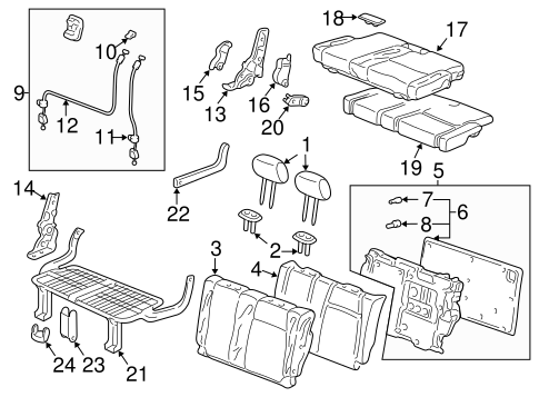 Headrest Guide - Honda (81144-SH3-003YG)