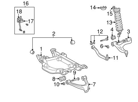 Rear suspension for 2001 mercedes benz ml320 for Mercedes benz 2001 ml320 parts