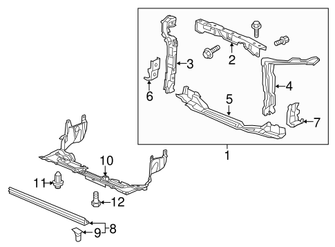 OEM Honda 04601-TR0-A00ZZ - Side Support
