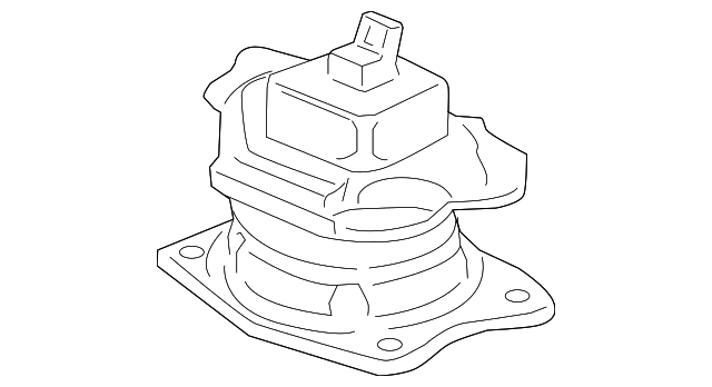 OEM Honda 50810-SHJ-A63 - Rubber Assembly, Rear Engine Mounting (Acm)
