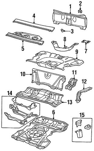 oem rear body for 1992 pontiac bonneville