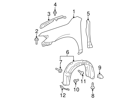 Rear Seal - Toyota (53882-06011)