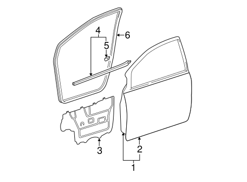 BODY/DOOR & COMPONENTS for 2002 Toyota Sienna #2