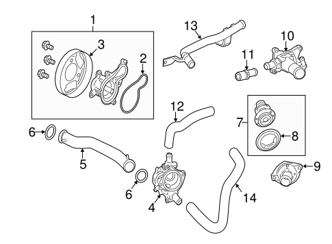 OEM Honda 19305-PT0-000 - Thermostat Unit Seal