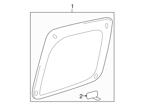 BODY/GLASS - REAR DOOR for 2007 Toyota Tacoma #1