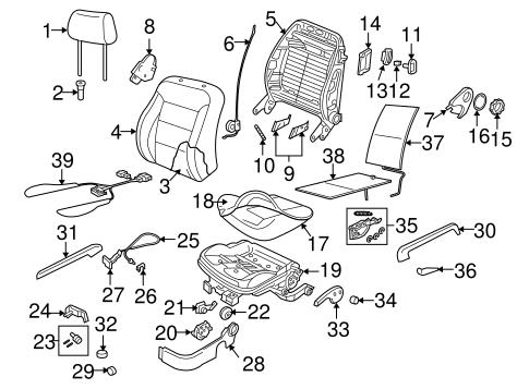 oem vw front seat components for 2007 volkswagen beetle