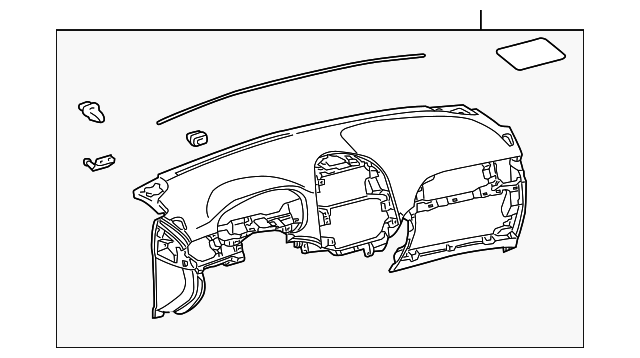 Instrument Panel - Toyota (55301-08040-B0)