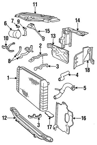 radiator support for 1994 volvo 960