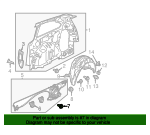 1997 Honda ACCORD 5-DOOR LX BOLT, GROUND (6X16) (WASHER 12.5MM) (ZN) - (90148SE0003)