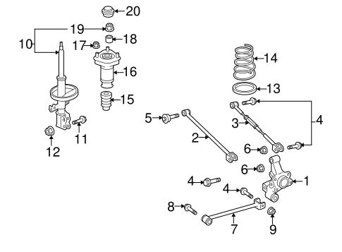 REAR SUSPENSION/REAR SUSPENSION for 2006 Toyota Highlander #2
