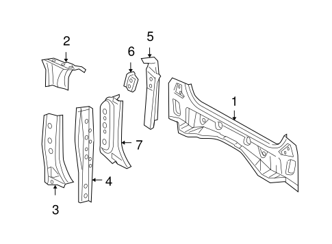 Rear Extension - Toyota (61623-52020)