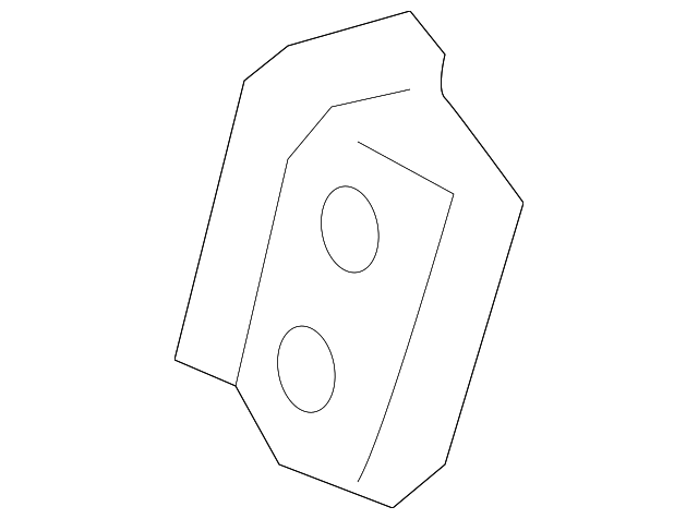 Rear Extension Reinforced Plate - Toyota (61745-52020)