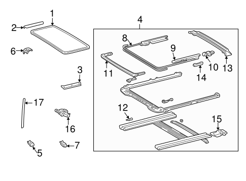 ELECTRICAL/SUNROOF for 1999 Toyota Camry #2