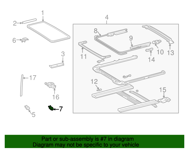 Housing Assembly Bracket - Toyota (63245-AA010)