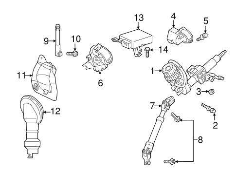 STEERING/STEERING COLUMN ASSEMBLY for 2016 Scion tC #1