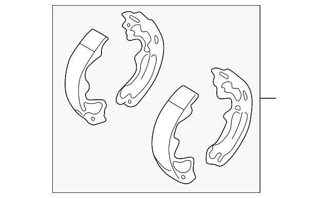 Brake Shoes - Toyota (04495-02090)