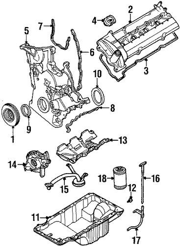 engine parts for 1997 ford taurus