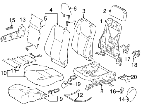 BODY/PASSENGER SEAT COMPONENTS for 2014 Toyota RAV4 #1