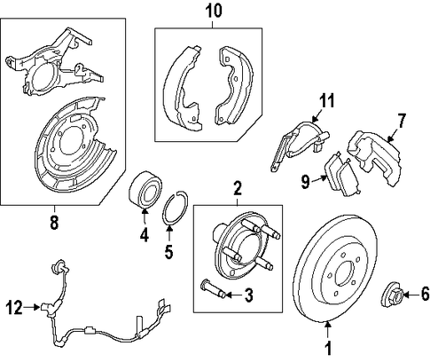 Kit - Brake Shoe And Lining