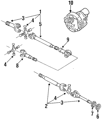carrier  u0026 front axles for 1995 ford f