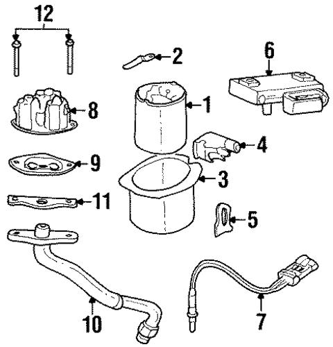 Buick Skylark Sensor Connector 1992-1993