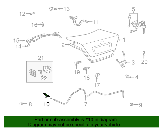 Opener Assembly - Toyota (64606-AA020)