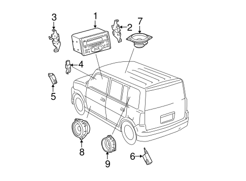 BODY/SOUND SYSTEM for 2006 Scion xB #1