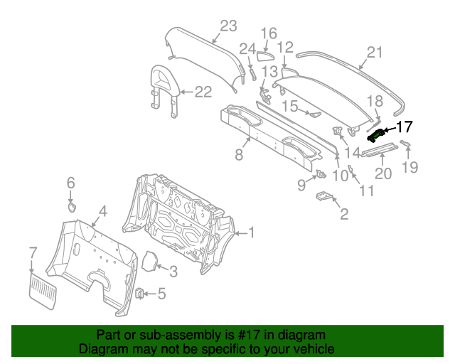 170 690 04 66 hinge genuine mercedes benz oem parts