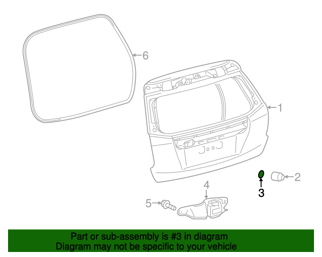 Lift Gate Protector - Toyota (67395-47011)