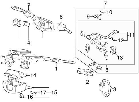 OEM Honda 35255-S3Y-G02 - Multi-function Switch