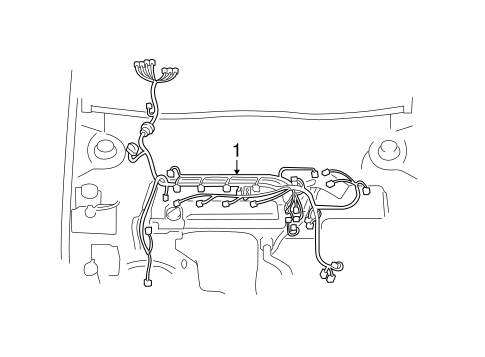 ELECTRICAL/WIRING HARNESS for 2008 Toyota Solara #1