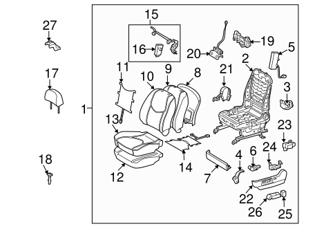 BODY/FRONT SEAT COMPONENTS for 2011 Toyota RAV4 #2