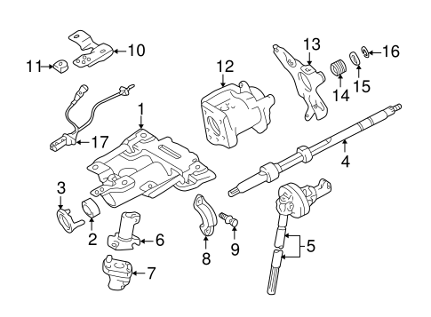 STEERING/STEERING COLUMN ASSEMBLY for 2003 Toyota Tundra #1